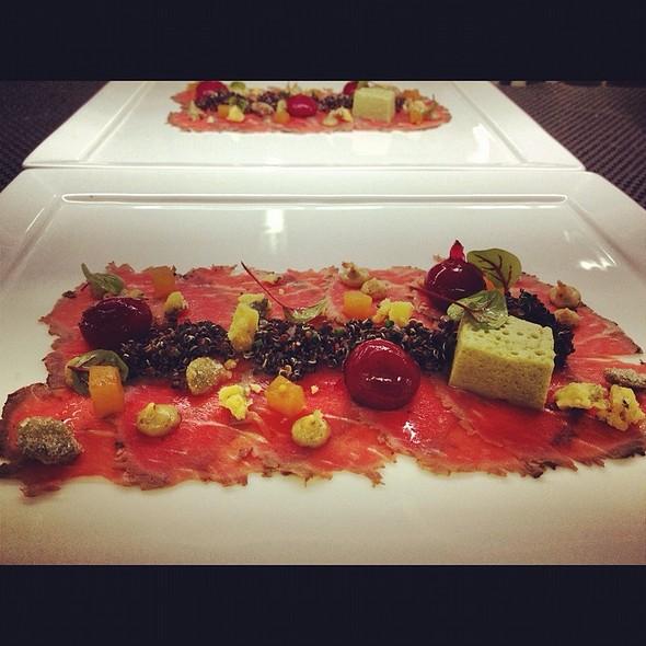 Carpaccio With Beets, Quinoa And Pumpkin Marshmallow @ The Fearrington House Restaurant