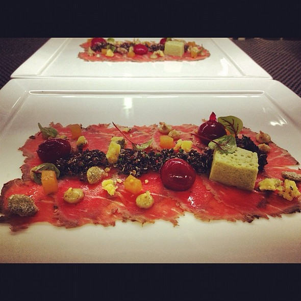 Carpaccio With Beets, Quinoa And Pumpkin Marshmallow @ The Fearrington House Restaurant