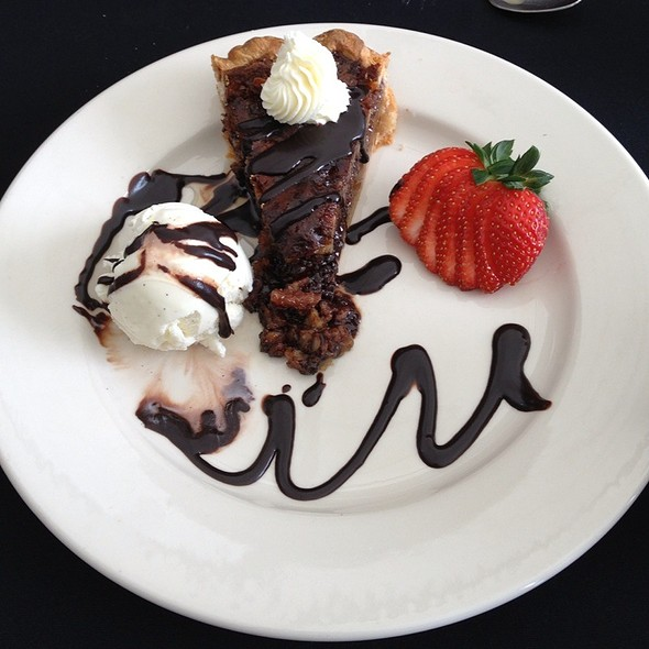 Chocolate Bourbon Pecan Pie - On The Verandah, Highlands, NC