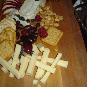 Cheese, Almonds & Fruit Plate