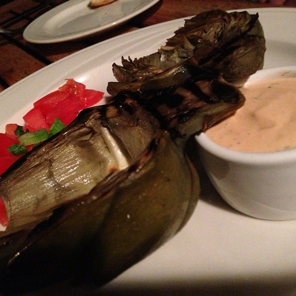 Grilled Artichoke @ Mission Ranch Hotel and Restaurant