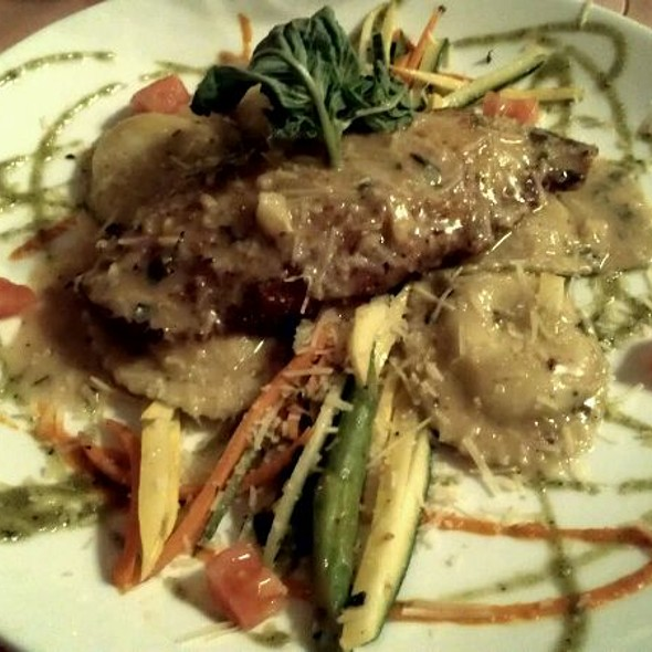 pan-seared snapper with shrimp and ricotta ravioli @ Roosevelts