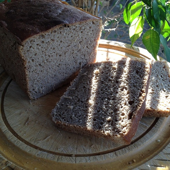 Rye Sourdough Bread @ Blazing Salads