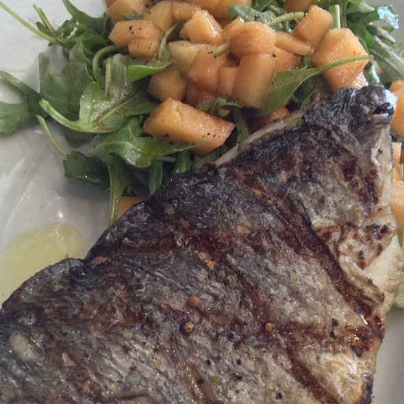Sea Bream With Arugula Cantelope Salad @ Terroni
