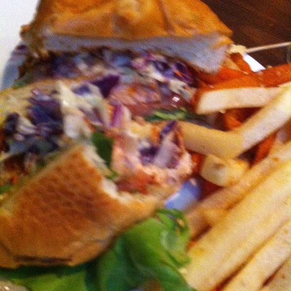 Salmon burger @ Yoshi's Jazz Club and Restaurant
