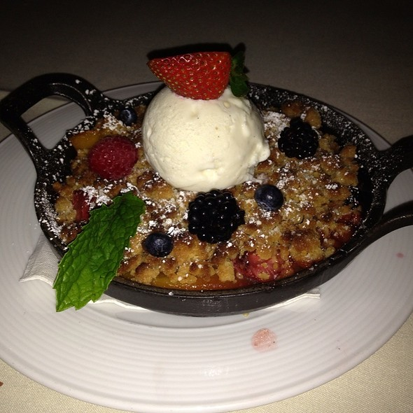 Seasonal Berry Cobbler - The Winery Restaurant & Wine Bar- Tustin, Tustin, CA