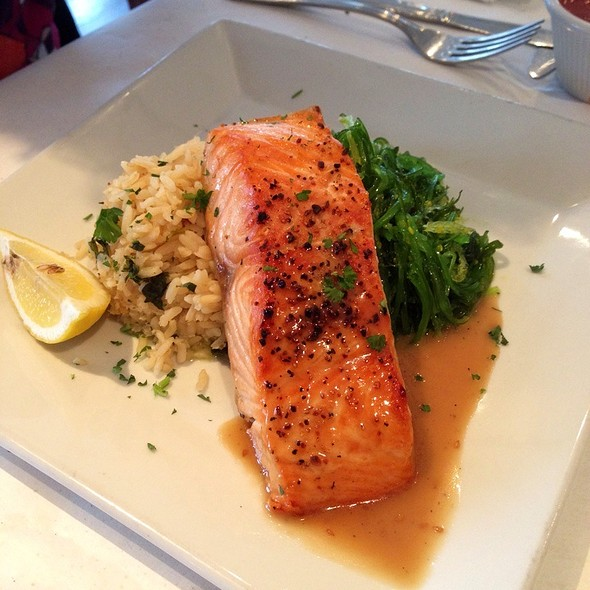 Broiled Salmon - The Oar Steak and Seafood Grill, Patchogue, NY