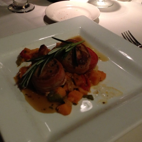 Bacon Wrapped Tenderloin With Sweet Potato Hash - The Mill on the River, South Windsor, CT