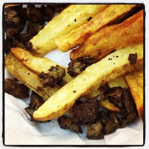 French Fries With Black Truffle @ Charlie's Grind & Grill