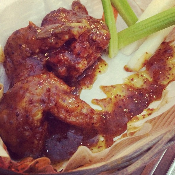 Sweet Buffalo Chicken Wings @ Charlie's Grind & Grill