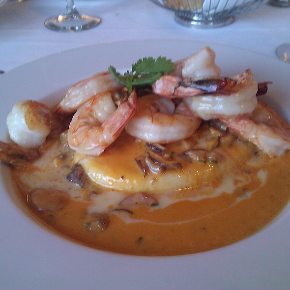 King prawns and cheese polenta - Kincaid Grill, Anchorage, AK