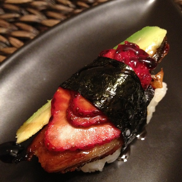 Unagi, Cucumber, Avocado, Strawberry @ 3W