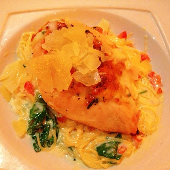 Grilled Stuffed Chicken W/ Angelhair Pasta @ Makers Mark Bourbon House & Lounge
