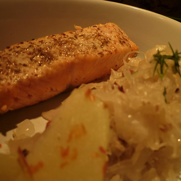 Salmon with choucroute @ Coccinelle bistro