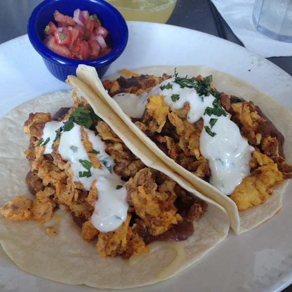 Breakfast Tacos @ The Blue Plate