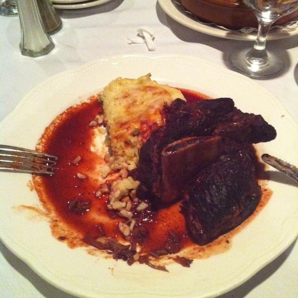 Short Rib With Risotto - Manolo's Restaurant, Elizabeth, NJ