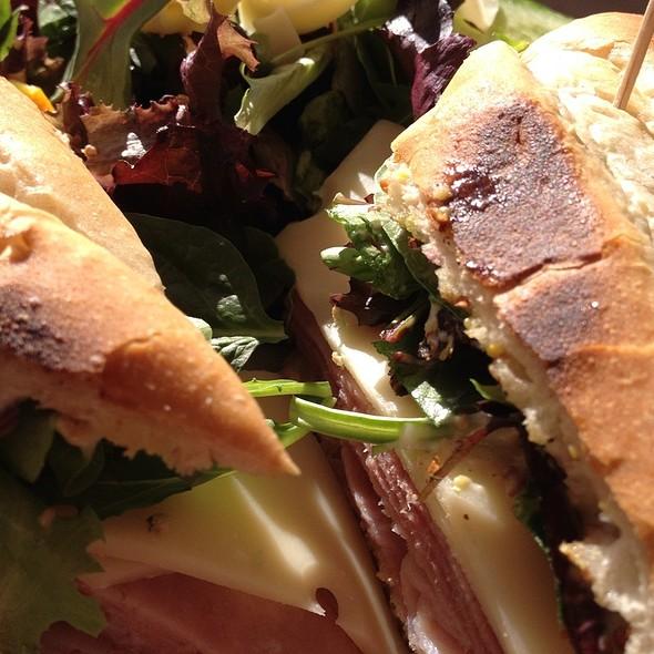 Ham And Swiss Sandwich @ The Hollar