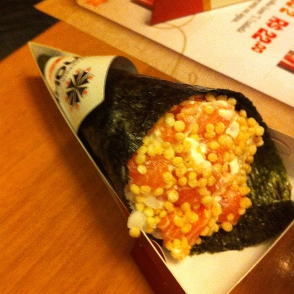 Salmon Rice Flakes Handroll @ Temakeria Makis Place - Perdizes