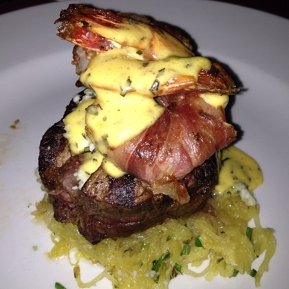 Filet Mignon W Prawns - The Vineyard Rose at South Coast Winery, Temecula, CA