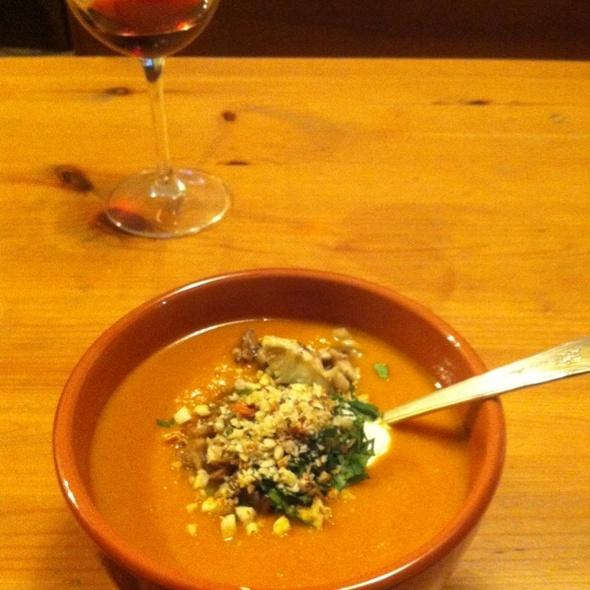 Winter Squash Soup with Wild Mushrooms @ Linda Street