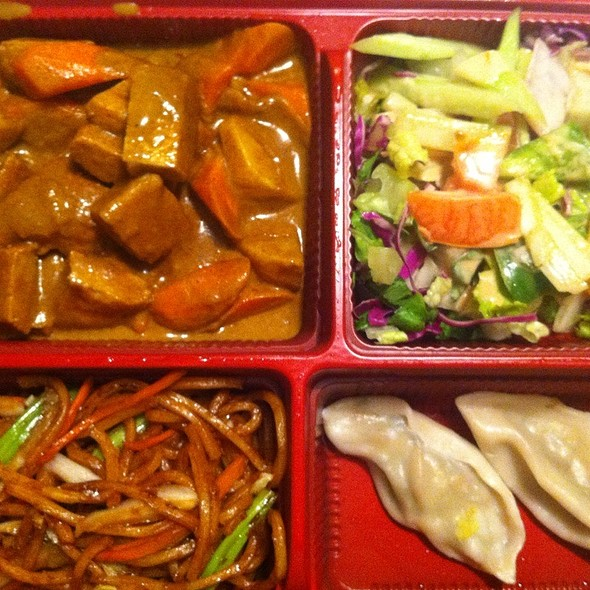 Vegetarian Chicken Curry Bento Box @ Vege favor