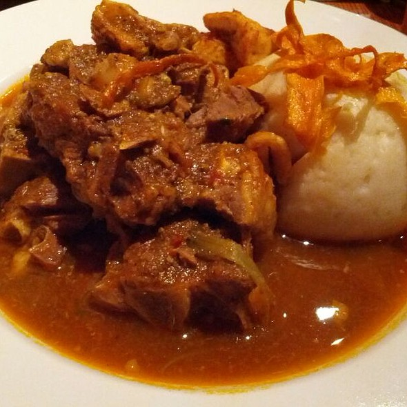 Goat Stew With Fufu @ Soleil's African Cuisine