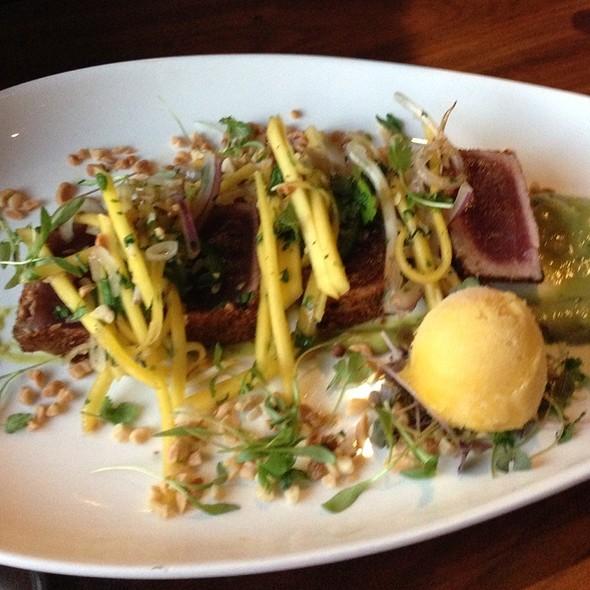 Avacado Leaf Seared Tuna @ Edison: Food+Drink Lab