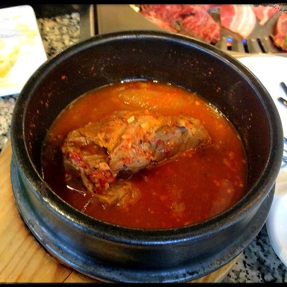 pork bone soup @ Chingu Korean Bbq