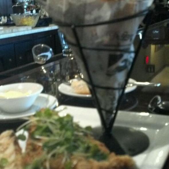 Fried Catfish Po'boy With Fries - Jolie's Louisiana Bistro, Lafayette, LA