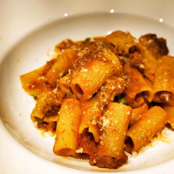 Rigatoni With Veal Ragu - Peppercorns Grill, Hartford, CT
