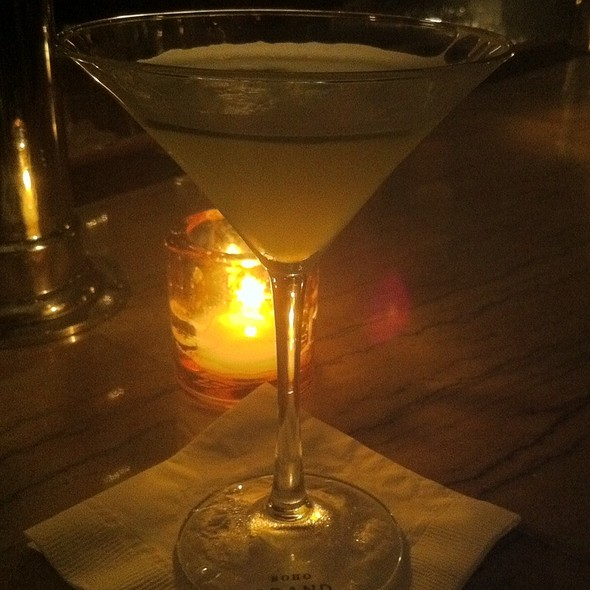 Cucumber Hendrix Martini - Grand Bar & Lounge at Soho Grand Hotel, New York, NY