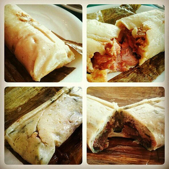 Chicken Tamal and Chipilin Tamal with Beans and Cheese @ Jaragua Restaurant