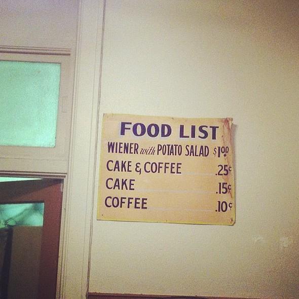 I like food lists. @ Crown Ballroom