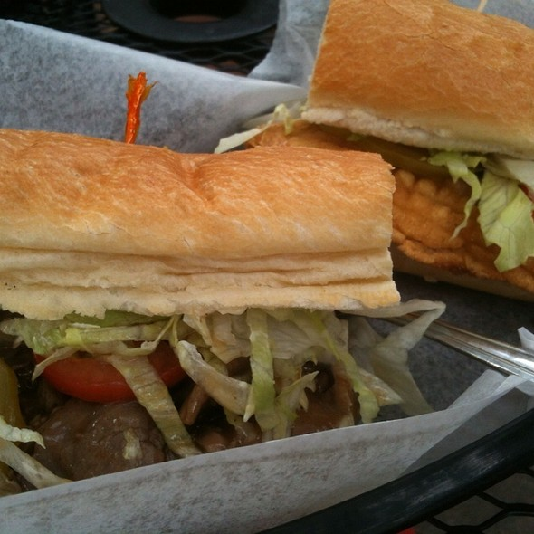 1/2 Roast Beef 1/2 Catfish Poboy
