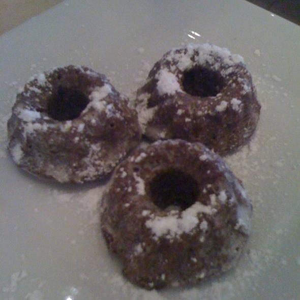 Mini Chocolate Bundt Cakes @ Tasting For Noor Restaurant