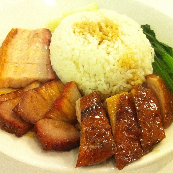 Roast Duck And Bbq Pork Combo Rice @ room 18 拾八风味