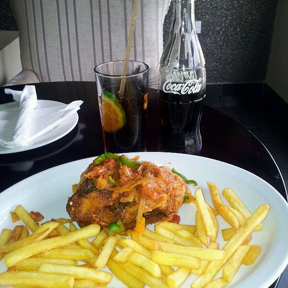Chilli Fish & Chips with Coca Cola