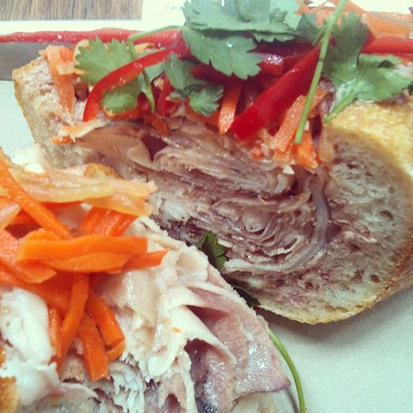 Salumeria makes a mean sandwich!! Heavenly coppa di testa with pâté & carrot slaw @ Salumeria