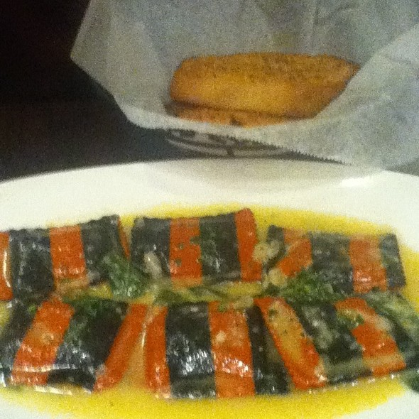 Lobster & crab ravioli - Delia's Mediterranean Grill & Brick Oven Pizza, Alexandria, VA