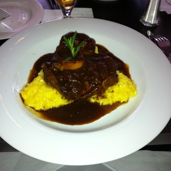 Veal Ossobuco with Saffron Risotto @ Como Mediterranean Restaurant & Café