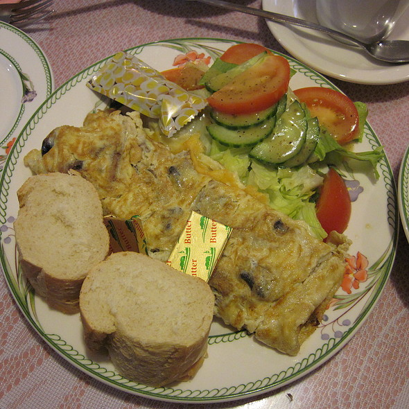 Mushroom Cheese Omellete @ Smalltalk Tearooms
