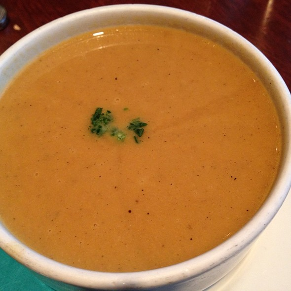 Butternut Squash-Lobster Stock Soup - Tin Fish, Tinley Park, IL