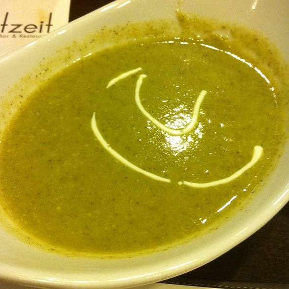 Cream of Brocolli Soup @ Brotzeit German Bier Bar & Restaurant