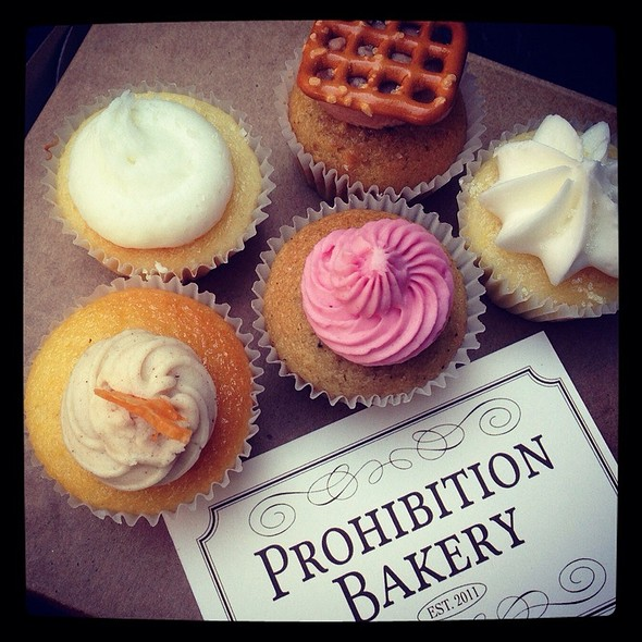Boozy Cupcakes @ Prohibition Bakery