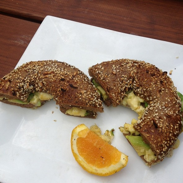 Egg & Cheese on an Everything Bagel @ Bloc 11 Cafe