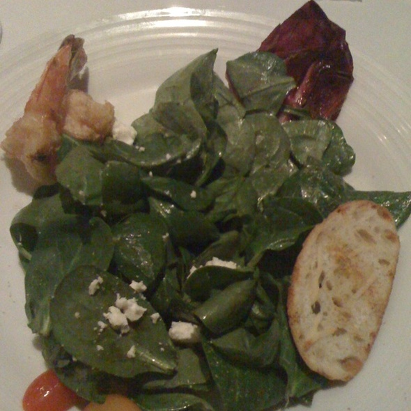 Spinach Salad w/ Shimp & Goat Cheese - Spaggi's, Upland, CA