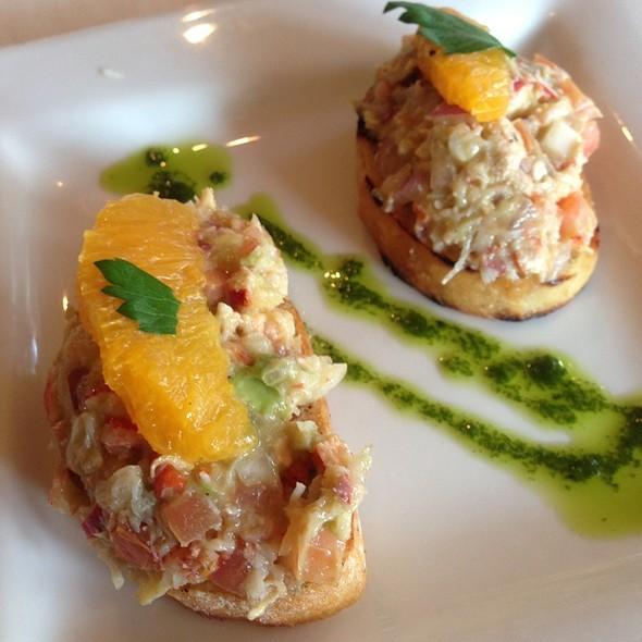 Lobster Bruschetta - Nicollet Island Inn, Minneapolis, MN