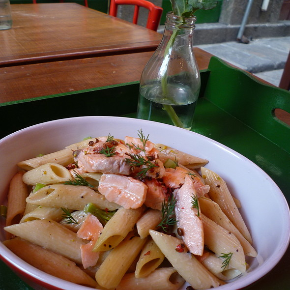 Penne with Salmon @ Coccinelle bistro