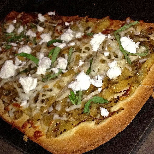 Caramelized Onion & Goat Cheese Pizza - Vertical Wine Bistro