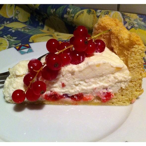 Crostata Al Cioccolato Bianco E Ribes Rosso